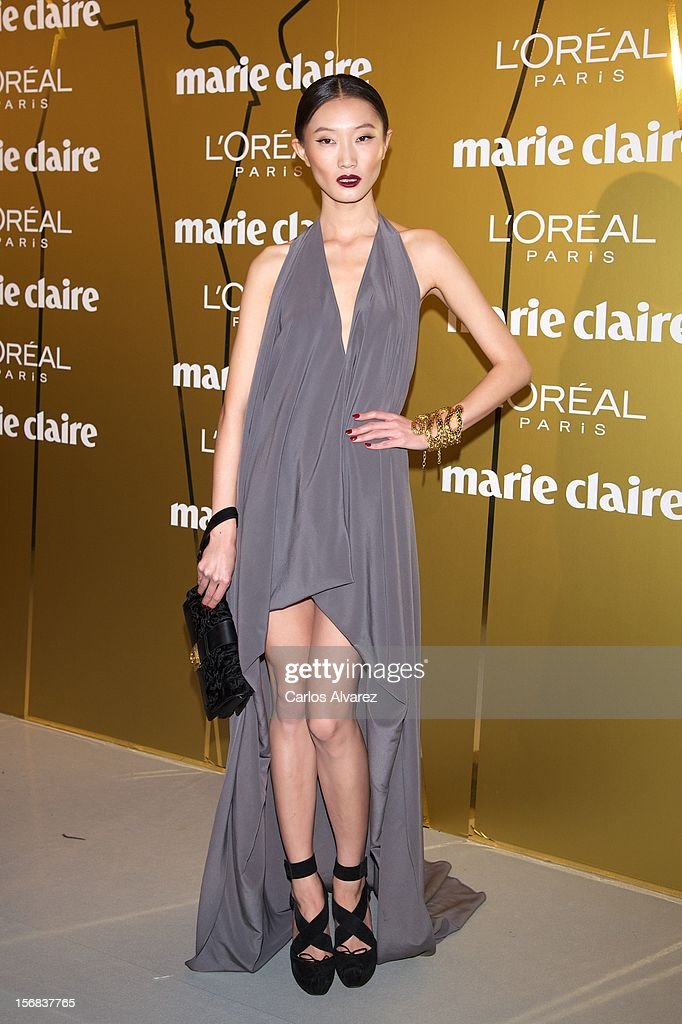 Carmen Xu attends Marie Claire Prix de la Moda Awards 2012 at the French Embassy on November 22, 2012 in Madrid, Spain.