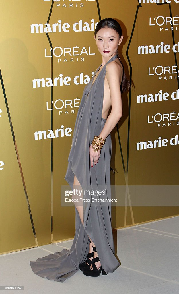 Carmen Xu attends Marie Claire Prix de la Moda Awards 2012 on November 22, 2012 in Madrid, Spain.