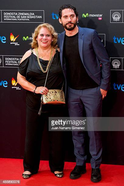 Carmina Barrios and Paco Leon attend 'Automata' premiere during 62nd San Sebastian International Film Festival at the Kursaal Palace on September 21...