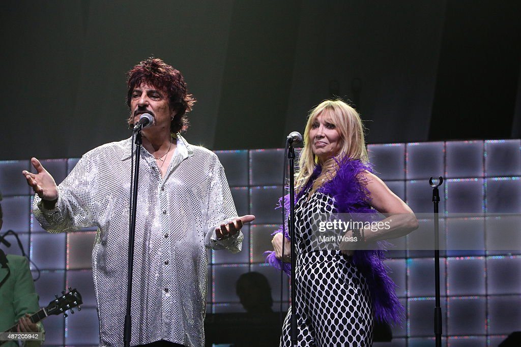 Carmine Appice and Maureen Van Zandt perform in the rock opera, Tommy at Count Basie Theater on August 29, 2015 in Red Bank, New Jersey.
