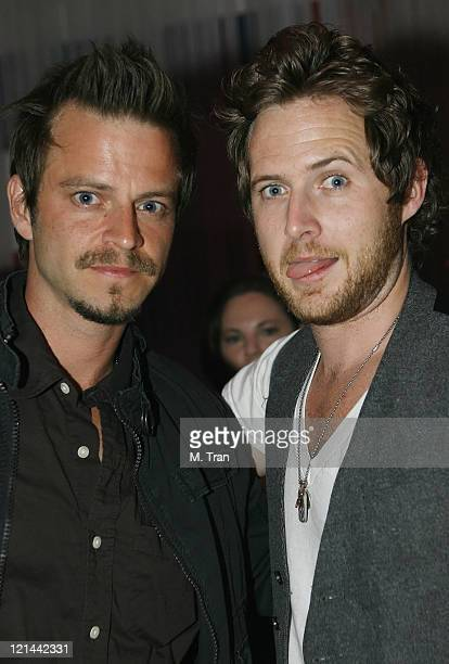 Carmine Giovinazzo and AJ Buckley during 100th Show Celebration at Forty Deuce at Forty Deuce in Hollywood California United States