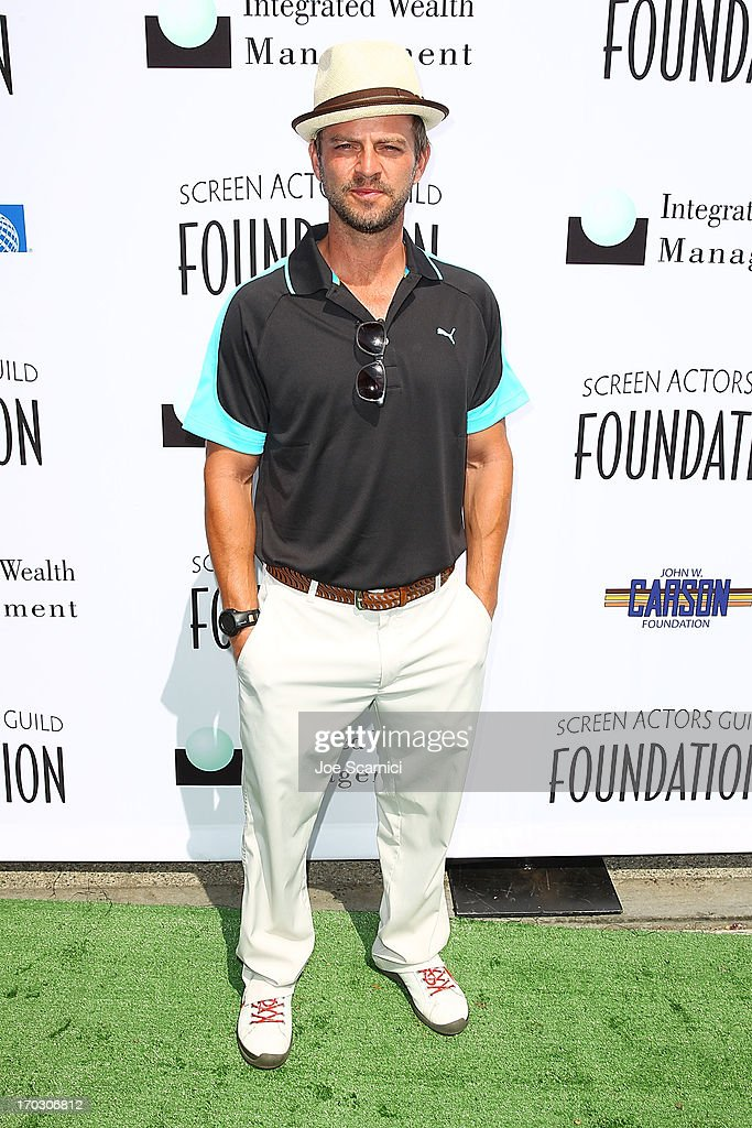 Carmine Giovinazzo arrives to the Screen Actors Guild Foundation's 4th annual Los Angeles golf classic at Lakeside Golf Club on June 10, 2013 in Burbank, California.