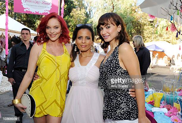 Carmit Bachar Anita Thompson and Karina Smirnoff attend the BellaStyle Garden Event on August 27 2010 in Los Angeles California
