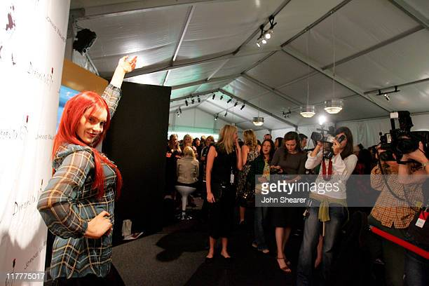 Carmit Bachar during Johnnie Walker Presents 'Dressed to Kilt' Arrivals and Backstage at Smashbox Studios in Los Angeles CA United States