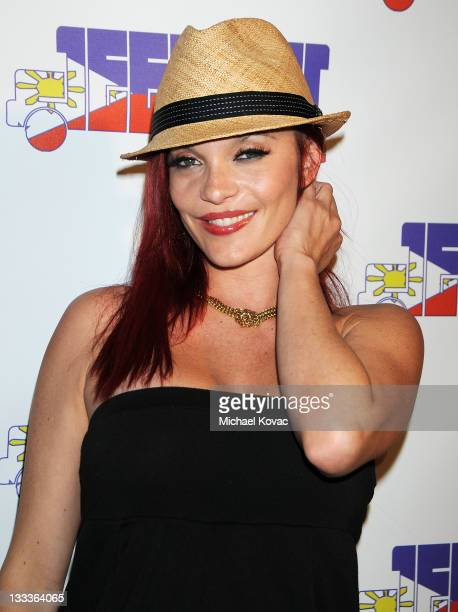 Carmit Bachar of The Pussycat Dolls arrives for the Black Eyed Peas' ApldeAp New Jeepney Music Record Label Launch Party at Ecco Club at Ecco Ultra...