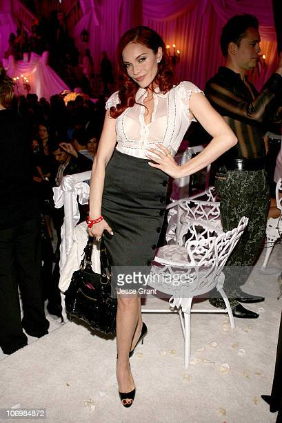 Carmit Bachar of The Pussycat Dolls during Viktor Rolf Celebrates The Launch of Their Collection for HM Inside and Backstage at Private Residence in...