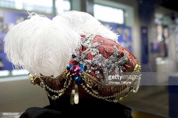 Carnac the Magnificent's turban from 'The Tonight Show Starring Johnny Carson' is seen at the Museum of Broadcast Communications' 'Here's Johnny'...