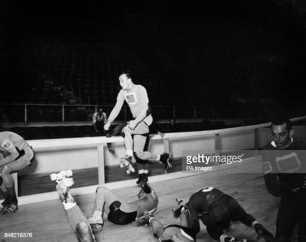 Carnage on the course as an American rollerskater attempts to jump over stricken teammates and European competitors Later that evening a 3000 mile...