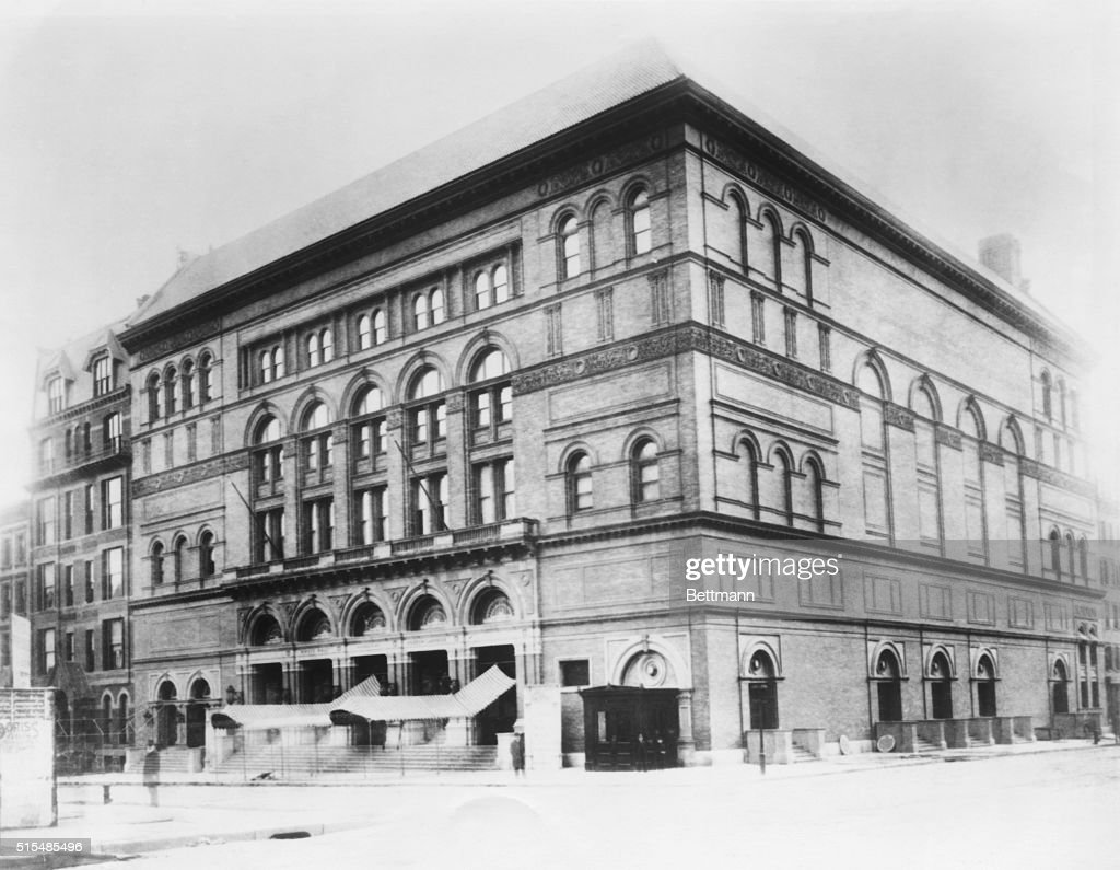 Carnegie Hall as it looked at its opening