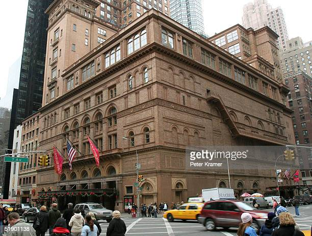 Carnegie Hall at 57th Street and 7th Avenue December 29 2004 in New York City