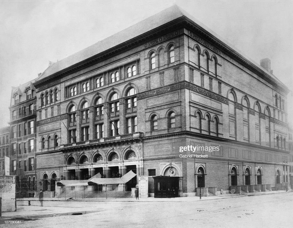 Carnegie Hall in Midtown Manhattan New York City in the year of its opening 1891 The concert venue was financed by philanthropist Andrew Carnegie and...