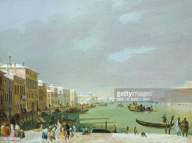 Carneval in Venice by di Giuseppe Bernardino Bison Italy 19th20th Century