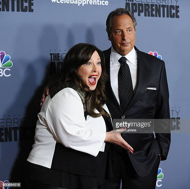 Carnie Wilson and Jon Lovitz attend the press junket For NBC's 'Celebrity Apprentice' at The Fairmont Miramar Hotel Bungalows on January 28 2016 in...