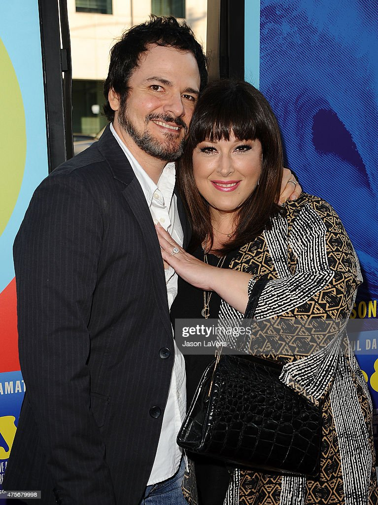 Carnie Wilson (R) and wife Rob Bonfiglio attend the premiere of 'Love & Mercy' at Samuel Goldwyn Theater on June 2, 2015 in Beverly Hills, California.