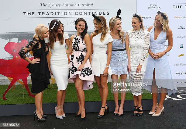 Carnival ambassadors Nerida Winter Jodi Gordon Grace Huang Isabel Cornish Storm Uechritz Elyse Knowles and Sylvia Jeffreys attend the 2016 Sydney...