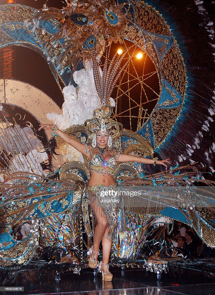 Carnival goers in costume participate in the Queen Gala Las Palmas Carnival 2013 on February 1, 2013 in Las Palmas de Gran Canaria, Spain.