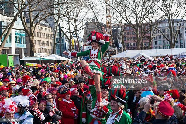 Carnival in Cologne Funkenbiwak at Neumarkt 2015