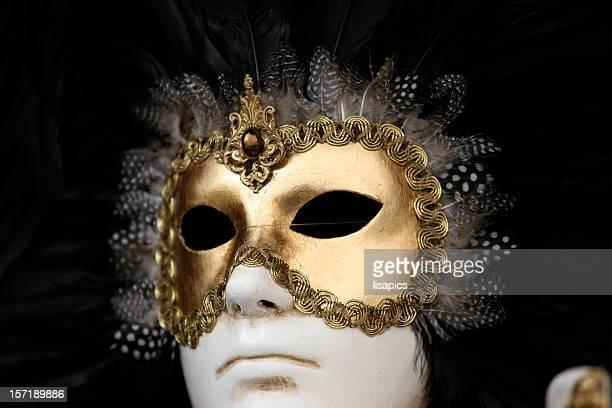 carnival mask: black white