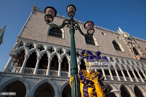 Carnival masks and costumes during Venice Carnival, St. Marks Square, Venice, UNESCO World Heritage Site, Veneto, Italy, Europe