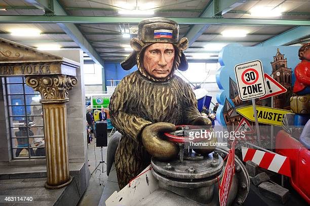 Carnival parade float satirizing Russia's President Putin under the motto 'ProblemBaer' is seen on February 10 2015 in Mainz Germany The Mainz...