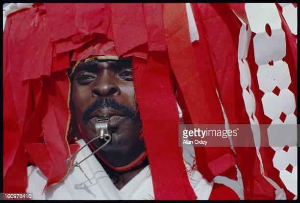 Carnival reveler in PortauPrince Haiti in February 1986