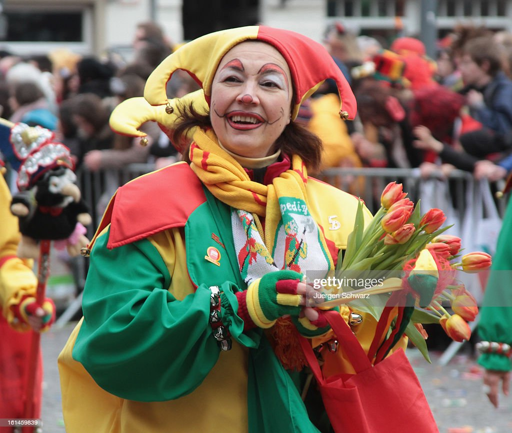 Carnival revelers participate in the annual Rose Monday (Rosenmontag) carnival parade on February 11, 2013 in Dusseldorf, Germany. Rose Monday is the highpoint of the annual carnival season in the region between Mainz, Cologne and Dusseldorf, where the carnival has been an annual tradition since 1823 and celebrates free-spirited merrymaking before the beginning of Lent.