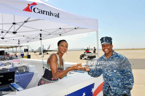 Carnival Vista Godmother and former Miss USA Deshauna Barber attends Carnival Cruise Line's First Ever Socially Powered BBQ with partner Operation...