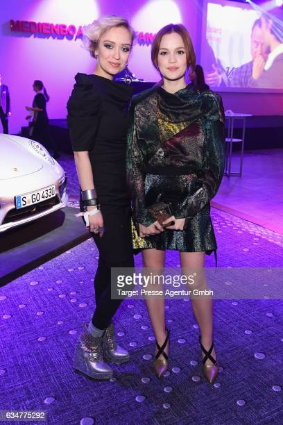 Caro Cult and Emilia Schuele attend the Medienboard BerlinBrandenburg Reception during the 67th Berlinale International Film Festival Berlin at on...