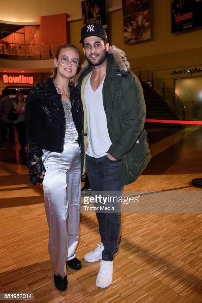 Caro Cult and Karim Duezguen Guenes attend the Serienale Opening on September 27 2017 in Berlin Germany