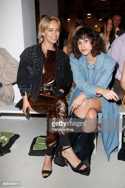 Caro Cult and Lucie Soekeland attend the Rebekka Ruetz show during the MercedesBenz Fashion Week Berlin Spring/Summer 2018 at Kaufhaus Jandorf on...
