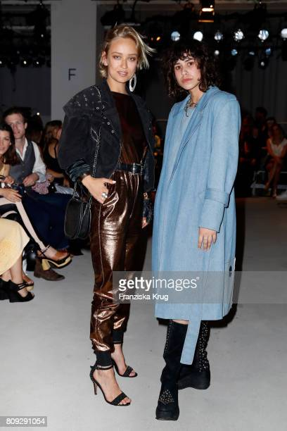 Caro Cult and Lucie Soekeland attends the Rebekka Ruetz show during the MercedesBenz Fashion Week Berlin Spring/Summer 2018 at Kaufhaus Jandorf on...