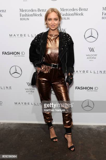 Caro Cult attends the Rebekka Ruetz show during the MercedesBenz Fashion Week Berlin Spring/Summer 2018 at Kaufhaus Jandorf on July 5 2017 in Berlin...