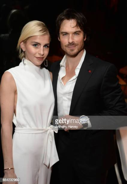 Caro Dauer and Ian Somerhalder attend the Montblanc Summit launch event at The Ledenhall Building on March 16 2017 in London England