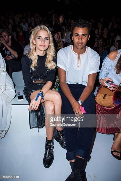 Caro Daur and Langston Uibel are seen at the Zalando fashion show during the Bread Butter by Zalando at arena Berlin on September 4 2016 in Berlin...