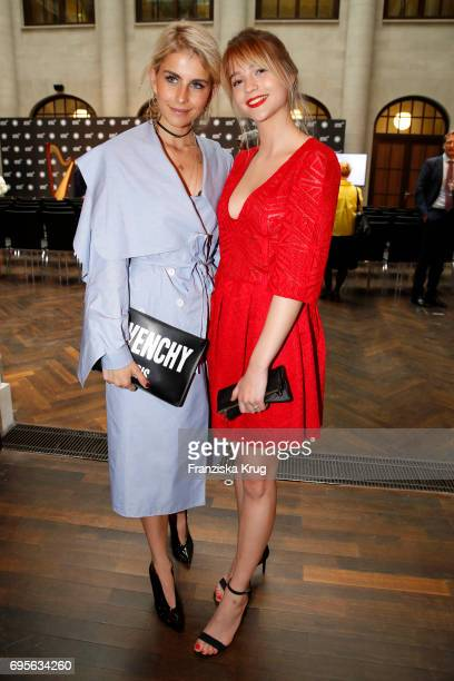Caro Daur and LisaMarie Koroll attend the Montblanc De La Culture Arts Patronage Award 2017 at Humboldt Carre on June 13 2017 in Berlin Germany