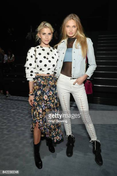 Caro Daur and Romee Strijd attend the Viktor Rolf fashion show during the Bread Butter by Zalando at BB Stage arena Berlin on September 3 2017 in...