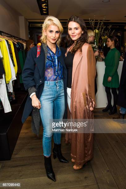 Caro Daur and Ruby O Fee attend the BaSh store opening on March 23 2017 in Berlin Germany