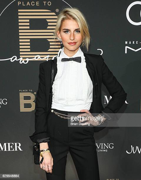 Caro Daur arrives at the Place To B Influencer Award at Axel Springer Haus on December 15 2016 in Berlin Germany