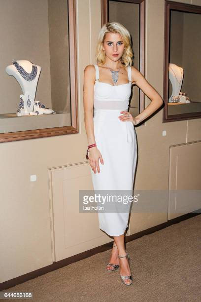 Caro Daur attends the Wempe store opening on February 23 2017 in Munich Germany