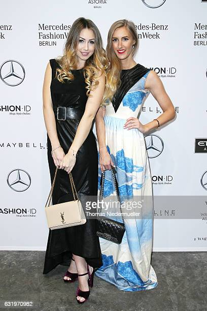 Caro Einhoff and Leslie Huhn attend the Rebekka Ruetz show during the MercedesBenz Fashion Week Berlin A/W 2017 at Kaufhaus Jandorf on January 18...