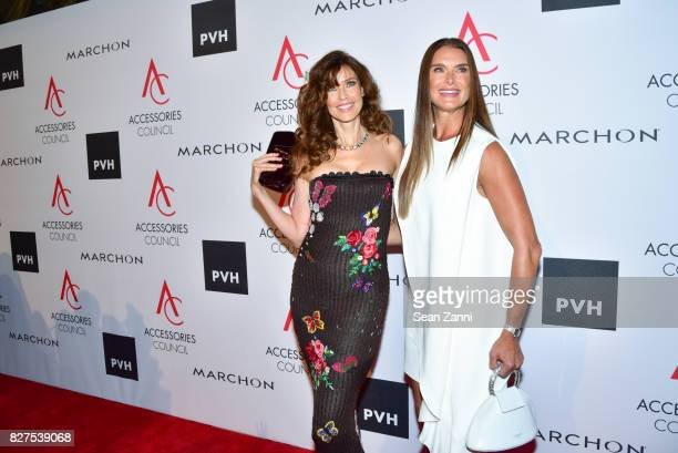 Carol Alt and Brooke Shields attend 21st Annual Ace Awards at Cipriani 42nd Street on August 7 2017 in New York City