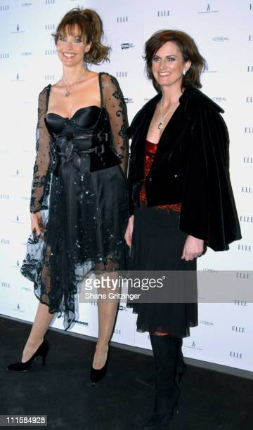 Carol Alt and Wendy Pepper during Elle Magazine Celebrates the Second Season of 'Project Runway' December 7 2005 at AER in New York City New York...