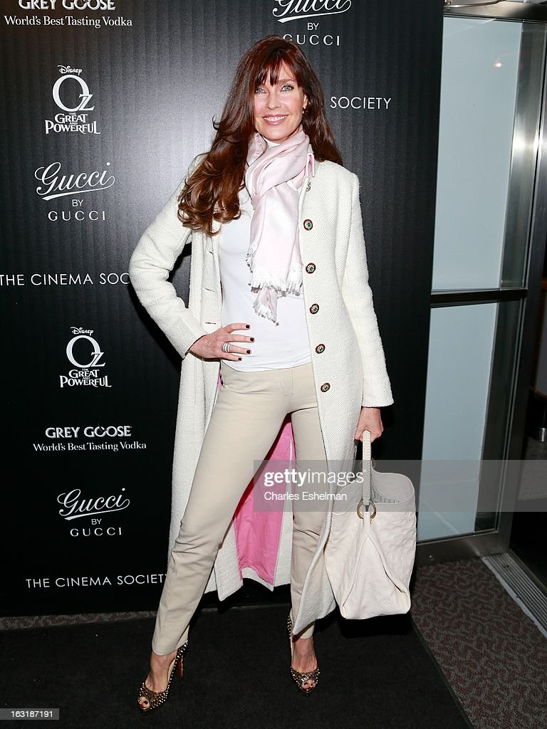 Carol Alt attends the Gucci and The Cinema Society screening of 'Oz the Great and Powerful' at the DGA Theater on March 5 2013 in New York City