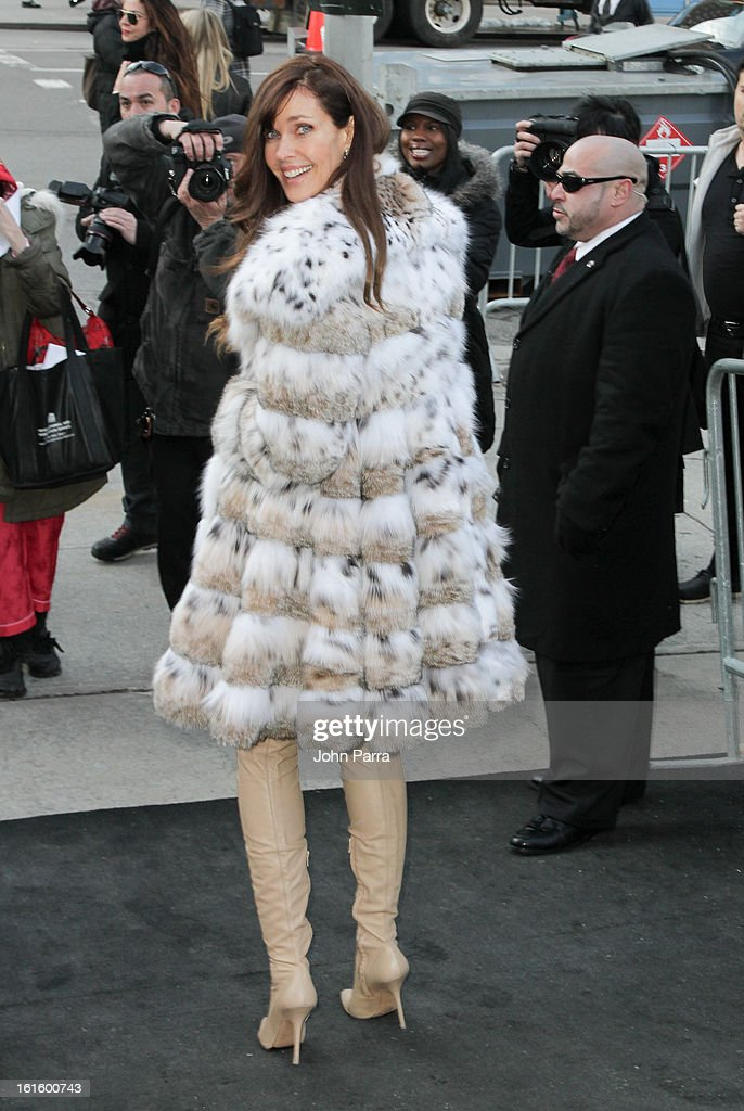 Carol Alt is seen during Fall 2013 Mercedes-Benz Fashion Week at Lincoln Center for the Performing Arts on February 12, 2013 in New York City.