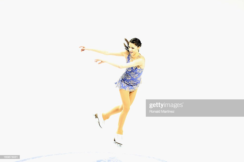 Carol Bressanutti of Italy competes in the Ladies Short Program during the 2013 ISU World Figure Skating Championships at Budweiser Gardens on March 14, 2013 in London, Canada.
