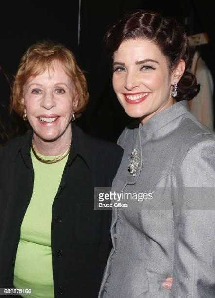 Carol Burnett and Cobie Smulders pose backstage at the hit play 'Present Laughter' on Broadway at The St James Theatre on May 13 2017 in New York City