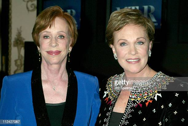 Carol Burnett and Julie Andews during The Museum of Television and Radio's Annual Gala Honoring Julie Andrews and Carol Burnett at The Waldorf...