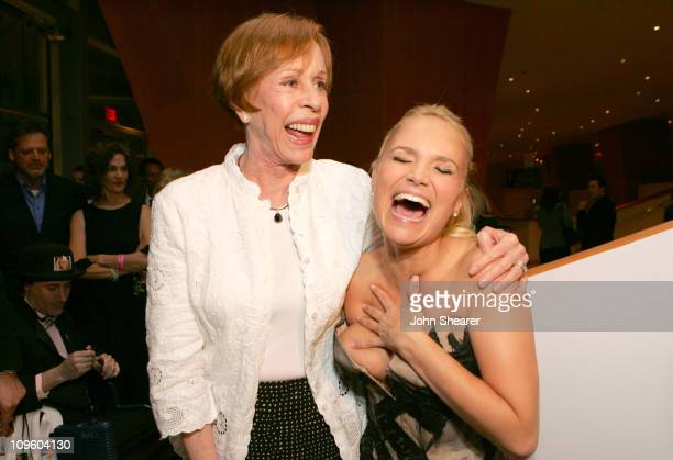 Carol Burnett and Kristin Chenoweth during Kristin Chenoweth Concert and VIP Reception at Walt Disney Concert Hall February 26 2006 at Disney Concert...