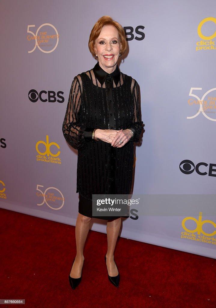 Carol Burnett attends CBS' 'The Carol Burnett Show 50th Anniversary Special' at CBS Televison City on October 4, 2017 in Los Angeles, California.