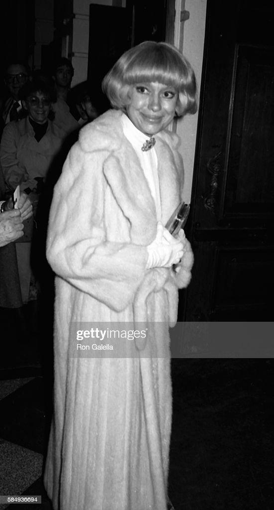 Carol Channing attends 'Peg' Opening Party on December 14 1983 at the Time Life Building in New York City